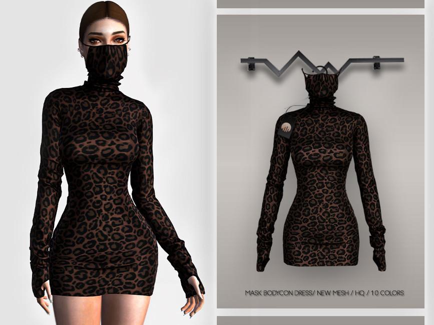 Облегающее платье Симс 4