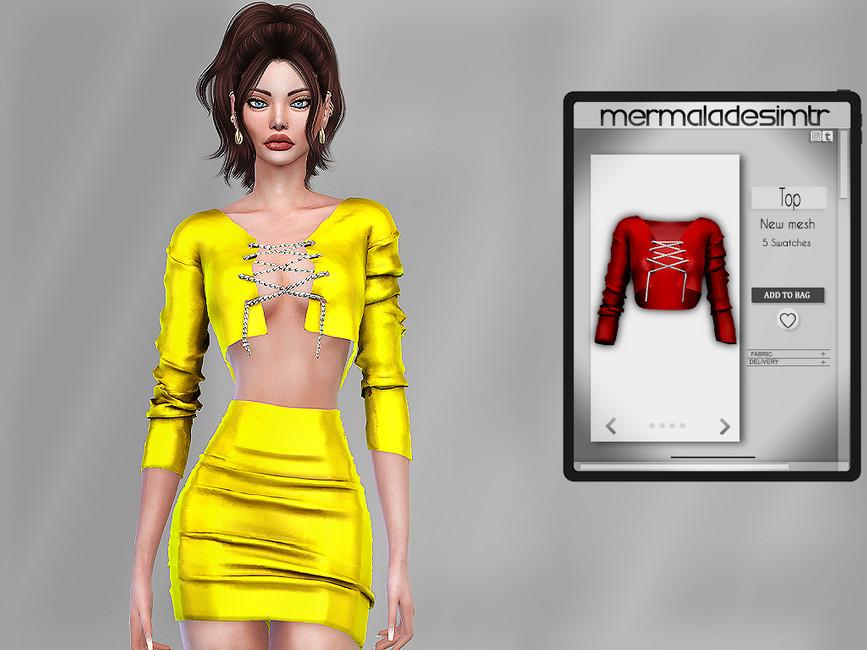 Одежда для женщин топы Симс 4