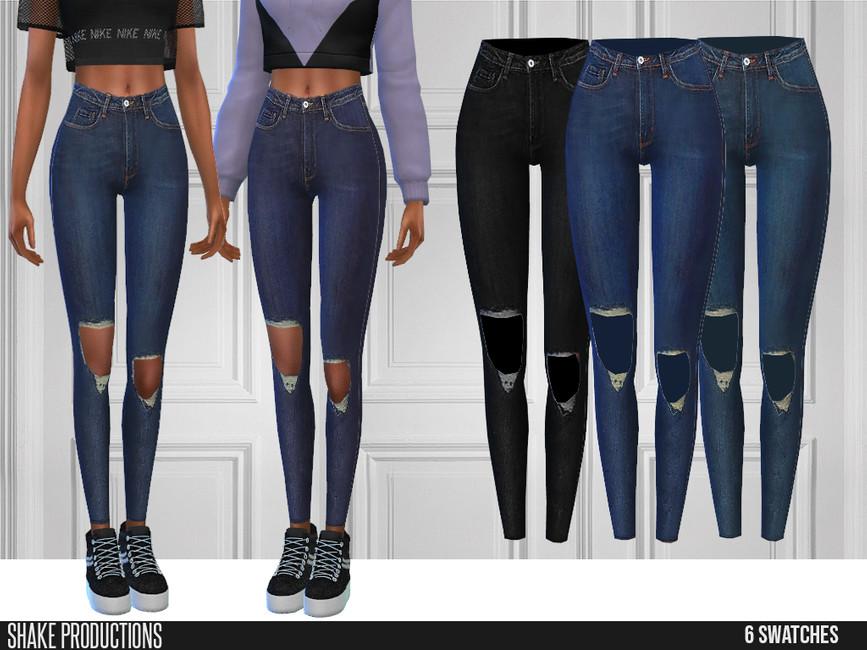 Одежда джинсы Симс 4