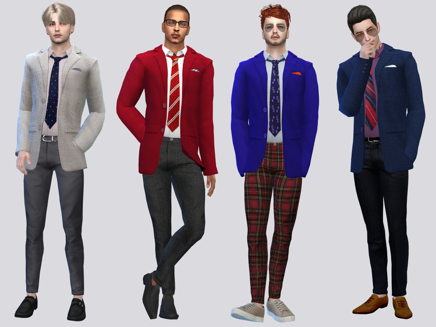 Одежда пиджаки Симс 4