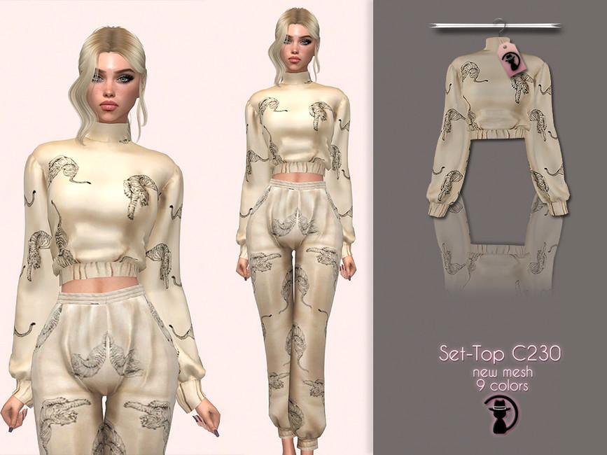 Одежда топы Симс 4