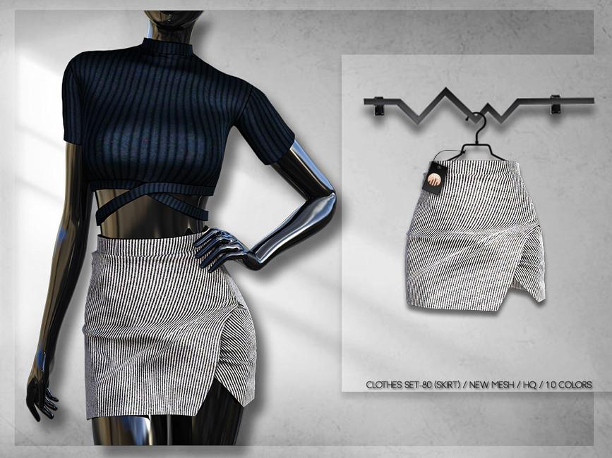 Одежда юбки Симс 4