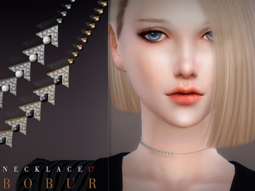 Ожерелье Bobur Necklace 17 для Симс 4