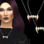Ожерелье Vampire teeth necklace для Симс 4