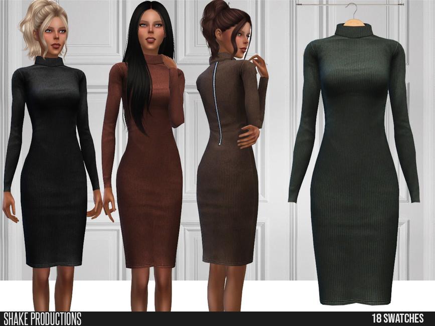Платье Wool Dress для Симс 4