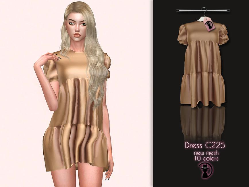 Платье С225 для Симс 4