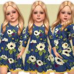 Платье для девочек Nelly Dress Симс 4