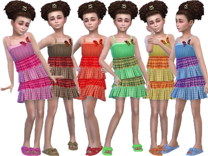 Платье для девочек Симс 4