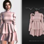 Платье Dress BD324 для Симс 4