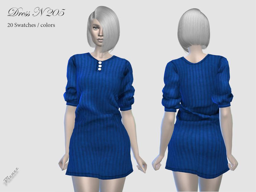 Платье Dress N205 для Симс 4