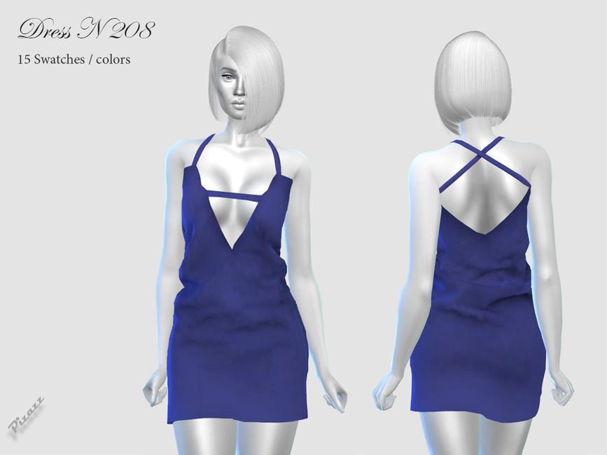 Платье Dress N208 для Симс 4