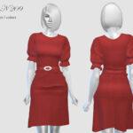 Платье Dress N209 для Симс 4