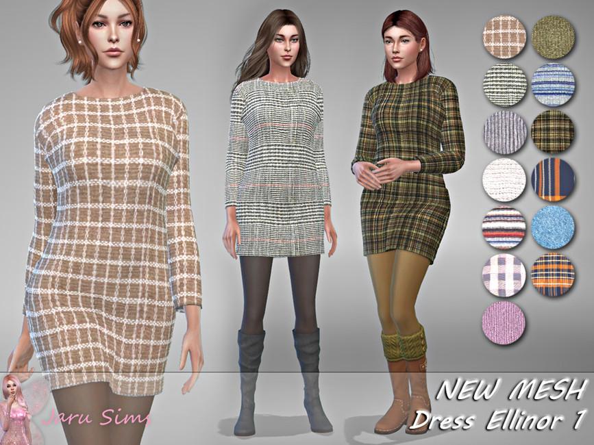 Платье Dress Ellinor 1 для Симс 4