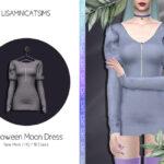 Платье Halloween Moon Dress для Симс 4