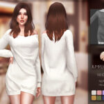 Платье Jumper Dress BD181 для Симс 4