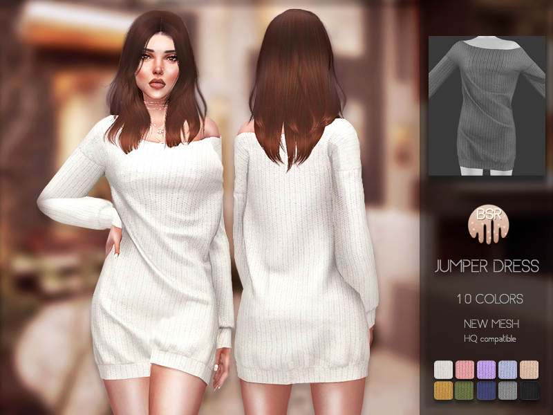 Платье Jumper Dress BD181 для Симс 4