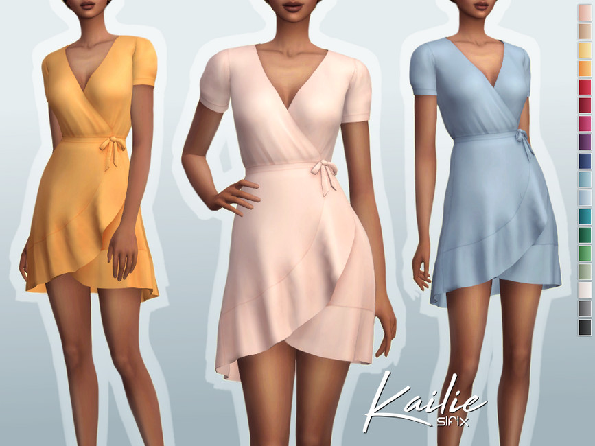 Платье Kailie Dress для Симс 4