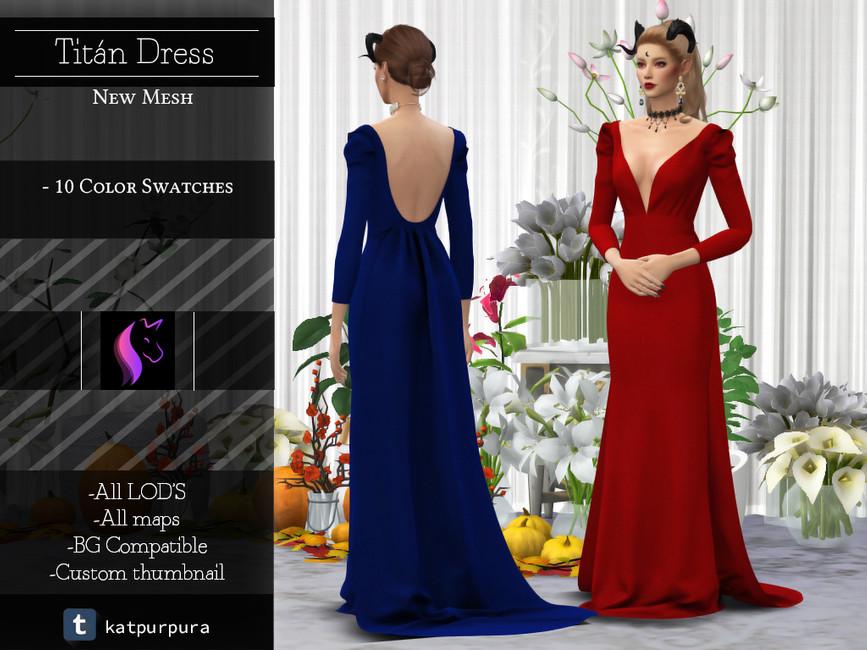 Платье королевы Симс 4