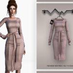 Платье Midi Dress BD332 для Симс 4