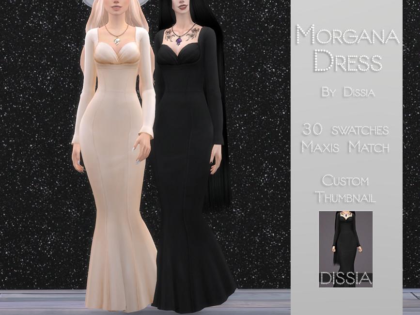 Платье Morgana Dress для Симс 4