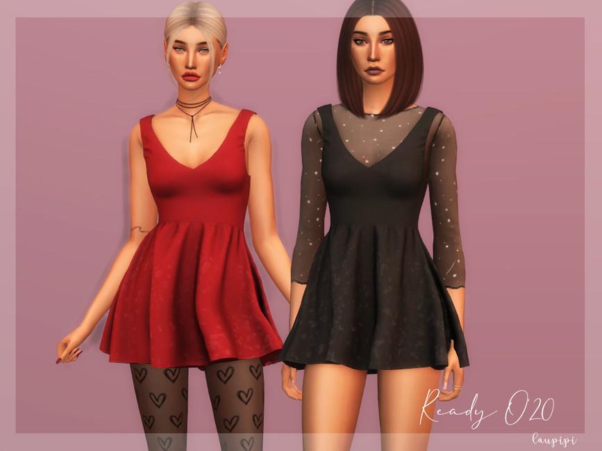 Платье Sleeveless - DR359 Симс 4
