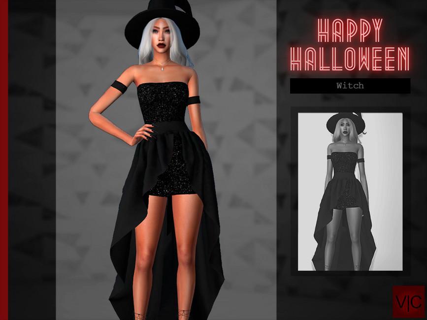 Платье ведьмы Симс 4