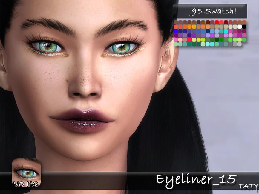 Подводка для глаз Taty Eyeliner 15 Симс 4