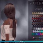 Прическа длинные волосы Симс 4