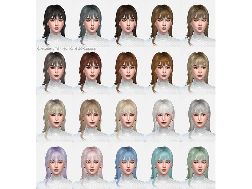 Прическа Female Hair G16 Симс 4 (картинка 2)