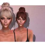 Прическа Lisa (HAIR) Симс 4