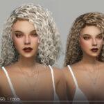 Прически кудрявые волосы Симс 4