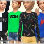 Рубашка для детей Симс 4