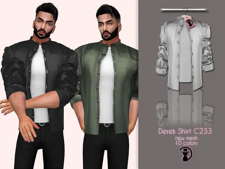 Рубашки для мужчин Симс 4