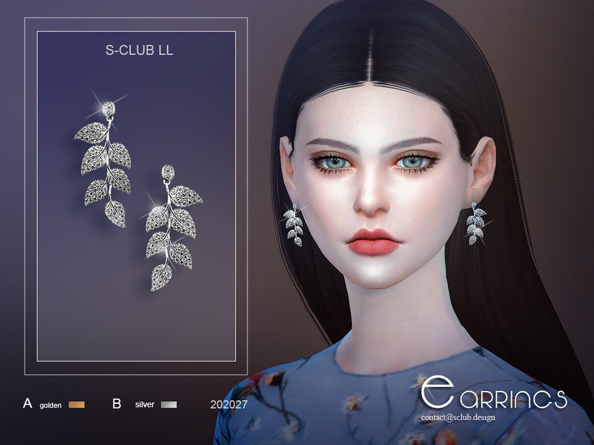 Сережки ts4 LL EARRINGS 202027 Симс 4