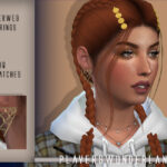 Серьги Spiderweb Earrings для Симс 4
