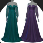 Шелковое платье для Симс 4