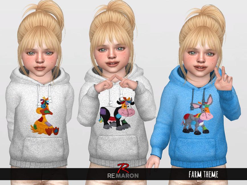 Скачать детскую одежду для Симс 4 (картинка 2)