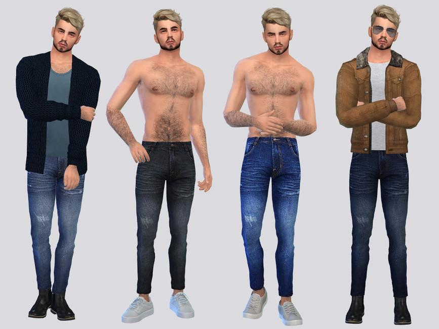 Скачать мужские джинсы для Симс 4