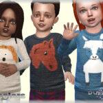 Свитер для малышей Симс 4