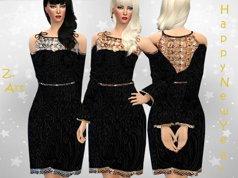 Винтажное платье Симс 4