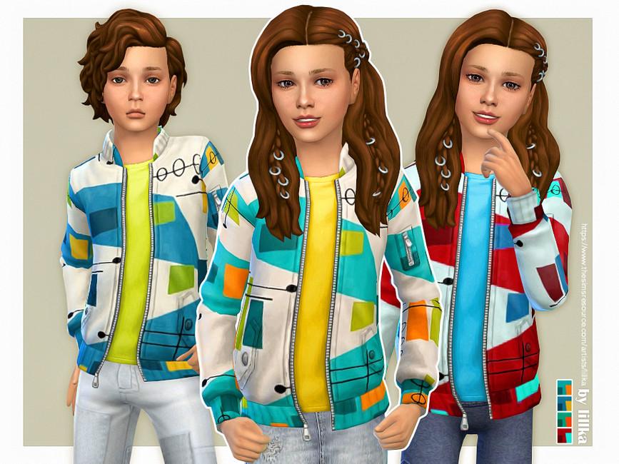 Жакет для детей Симс 4