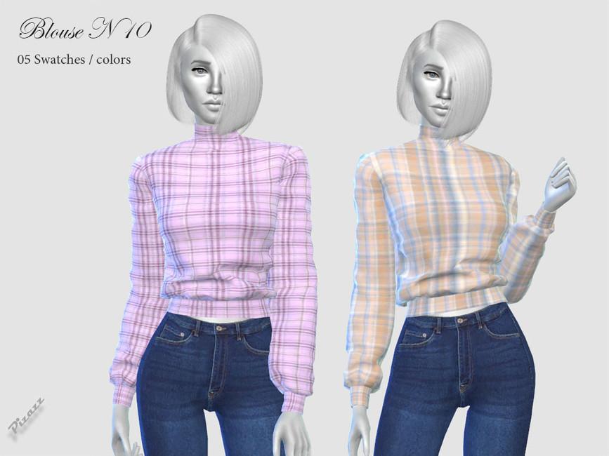 Блузка Ladies Blouse N10 Симс 4