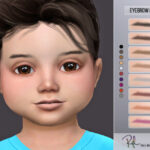 Брови для детей Eyebrow RPL15 Симс 4