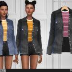 Джинсовая куртка для Симс 4