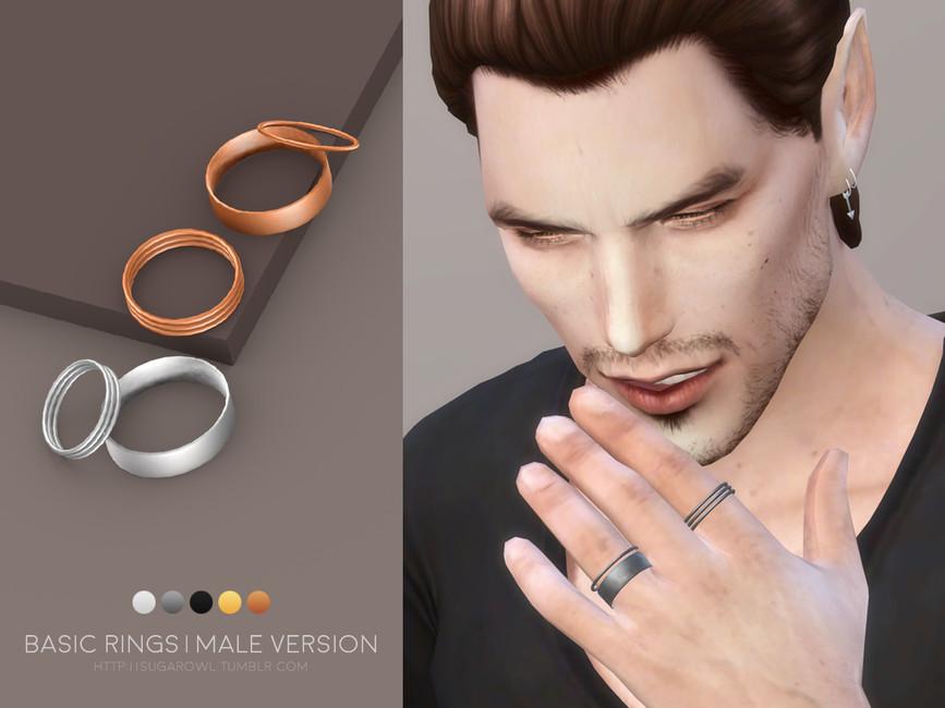 Кольца для мужчин Симс 4