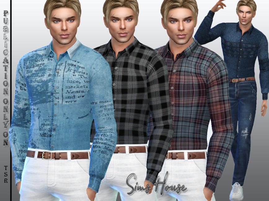 Мод мужская рубашка Симс 4