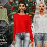 Мод свитер Симс 4