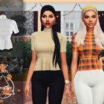 Моды блузка для Симс 4