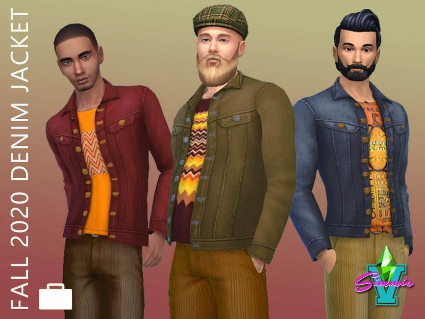Моды джинсовая куртка Симс 4