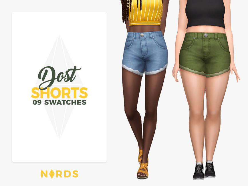 Моды джинсовые шорты Симс 4